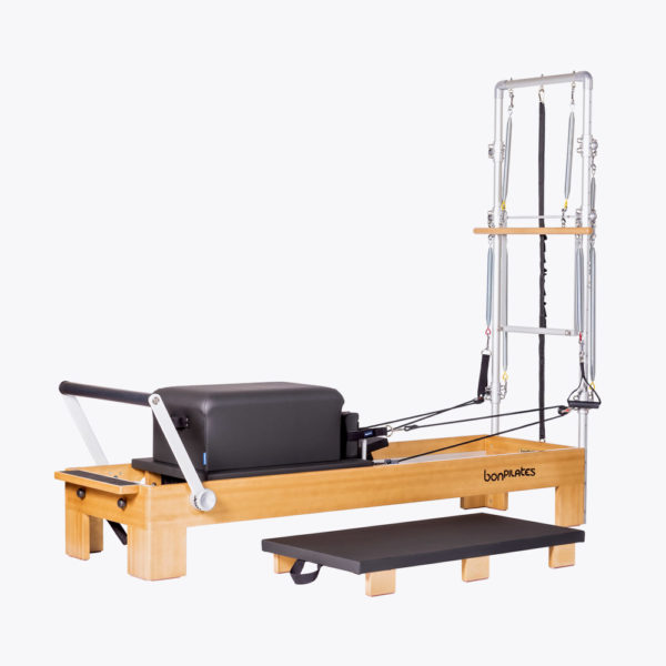 reformer torre pilates classic 2 600x600 - Reformer madera monitor con torre