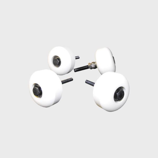 pack cuatro ruedas bancas 600x600 - Pack de 4 ruedas blancas