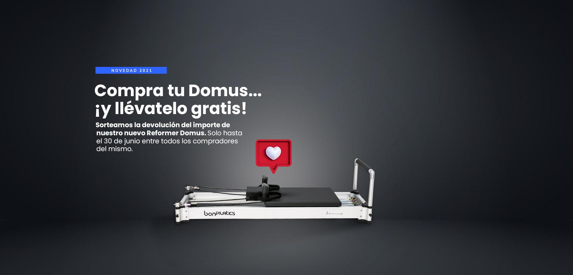 Sorteo Domus 1920x921  - Máquinas Pilates: reformer, accesorios y material